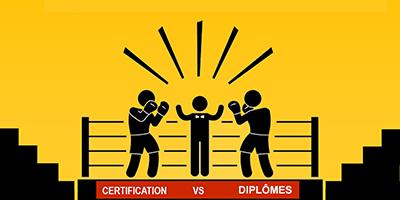 Les certifications plutôt que les diplômes