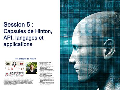 Intelligence Artificielle - Séminaire 3 - Session 5 - Capsules de Hinton,  API, langages et applications