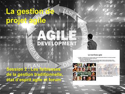 Session 2 : Les faiblesses de la gestion traditionnelle, état d'esprit agile et forum
