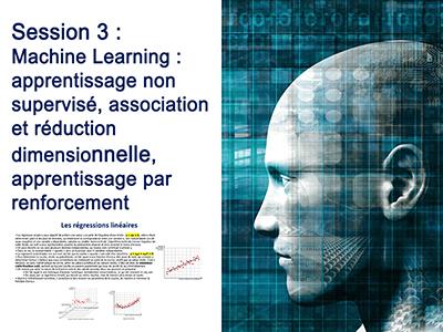 Intelligence Artificielle - Séminaire 2 - Session 3 - Machine Learning : apprentissage non supervisé, association et réduction dimensionnelle, apprentissage par renforcement