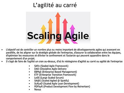 """Agilité, Session 10 : Qui utilise Scrum et le """"scaling agile"""""""