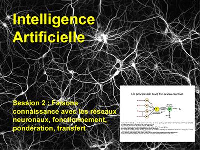 Session 2 : Faisons connaissance avec les réseaux neuronaux, fonctionnement, pondération, transfert