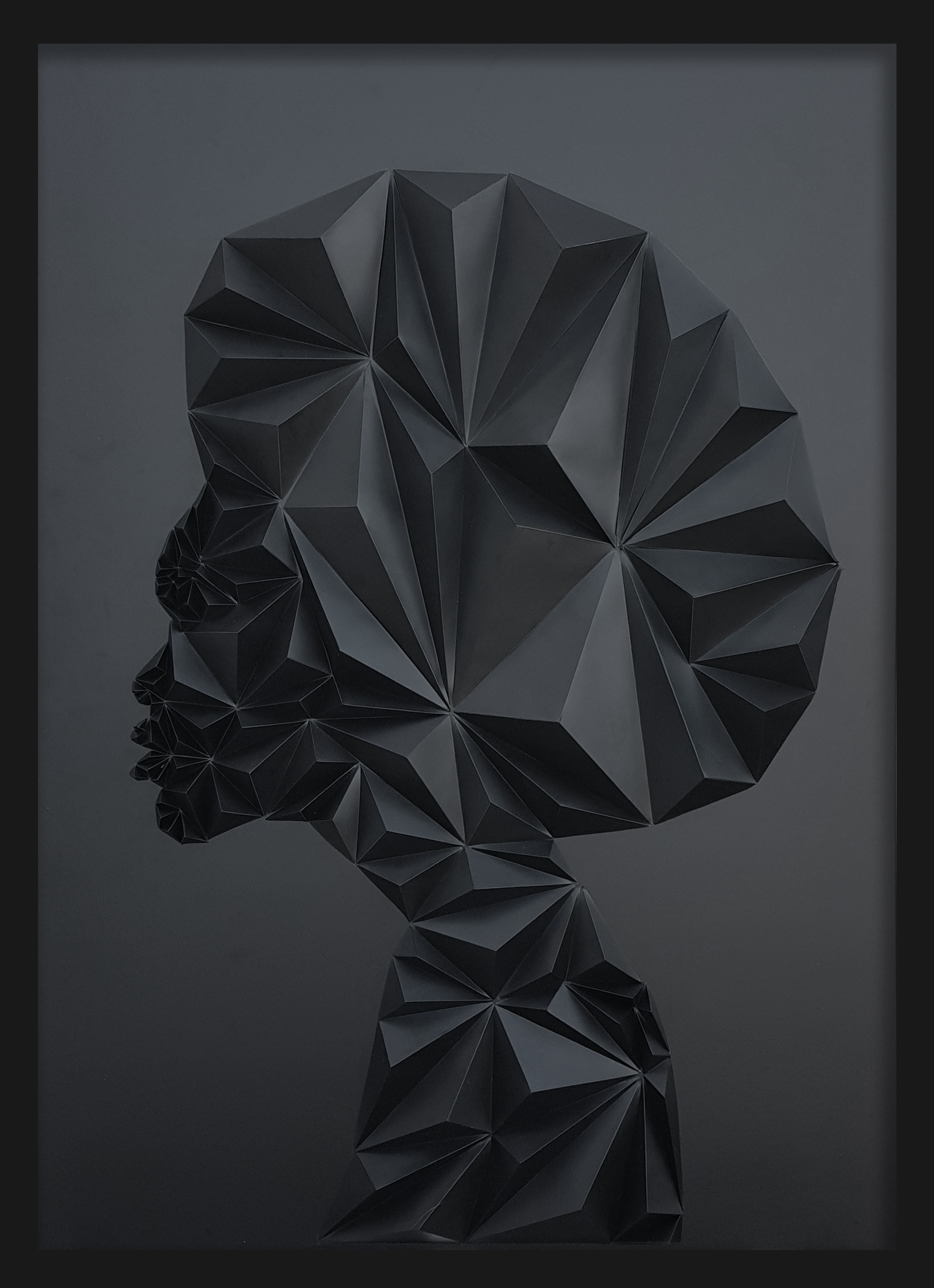 ATAI1 by Hen Songo Wall sculpture at Lemon Frame Gallery