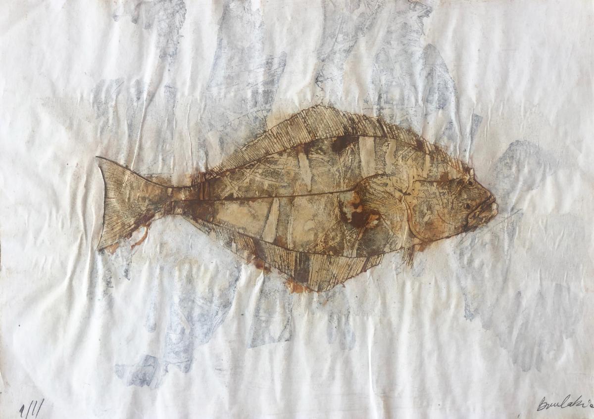Untitled Fish 3 by Philippe Boulakia 29.5X41.5 cm