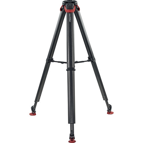 Sachtler flowtech 75 ms carbon fiber tripod with mid level spreader and rubber feet