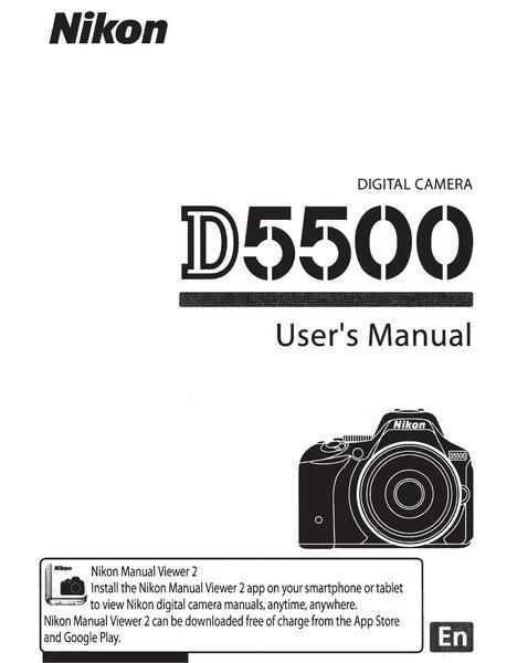 Nikon d5500 paper manual
