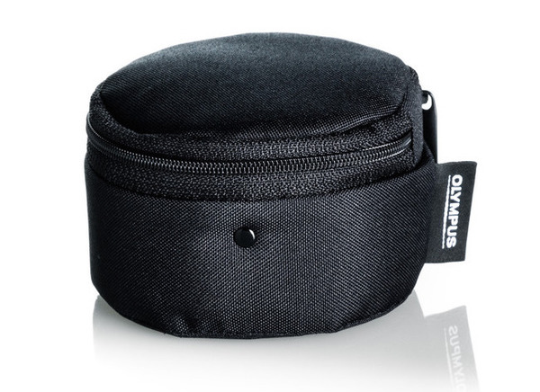 Olympus barrel style lens case for m.zuiko digital lenses %28extra small  black%29