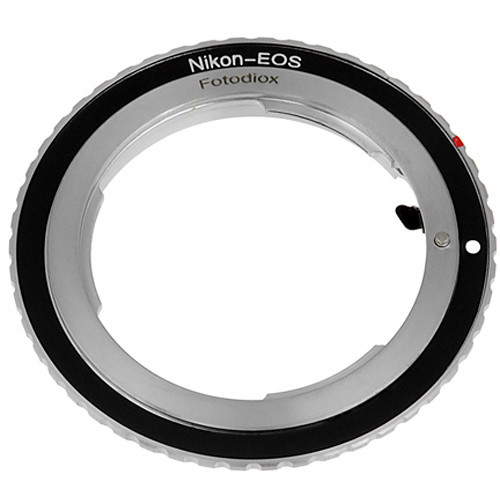 Fotodiox mount adapter for nikon f mount lens to canon eos camera