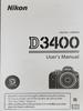 Nikon D3400 Manual