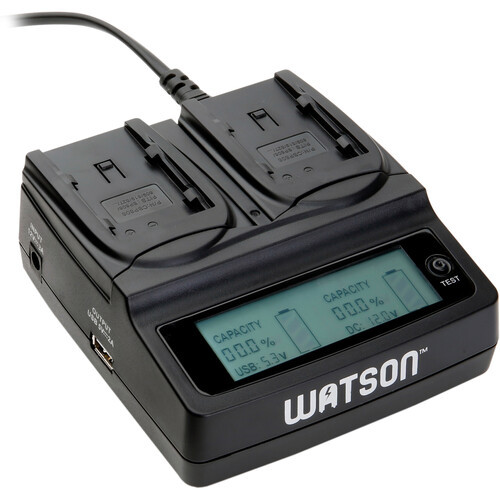 Watson duo lcd charger for canon bp 800 series batteries