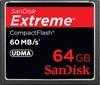 SanDisk CF 64GB Extreme UDMA 60MB/s Memory Card (Stock)