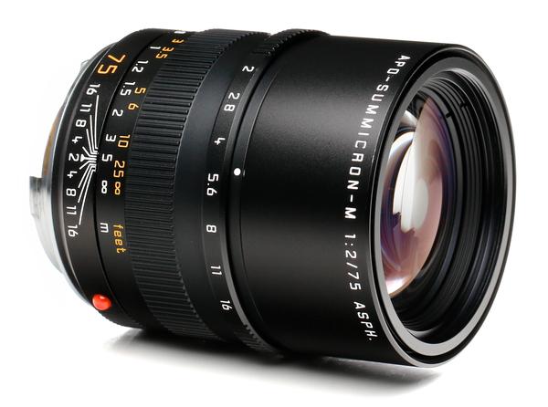 Leica 75mm f 2 summicron asph