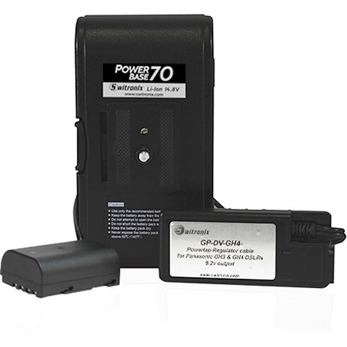 Switronix powerbase 70 battery for panasonic gh3   gh4 dslrs