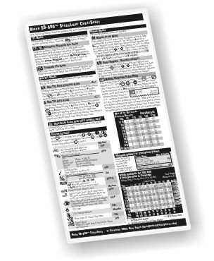 Photobert cheatsheet for nikon sb 600 speedlight