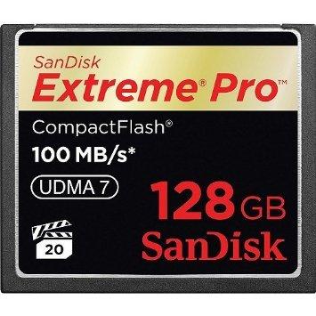 Sandisk cf 128gb extreme pro udma 7 100mb s memory card