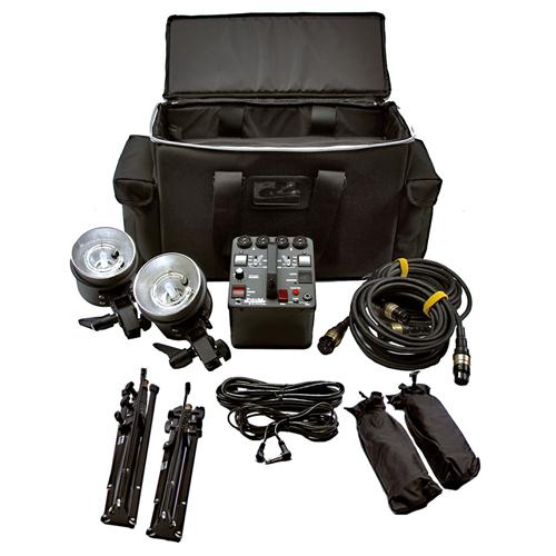 Dynalite 800w radio studio 2 head flash kit