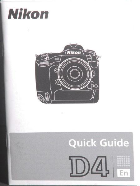 Nikon d4 camera quick guide