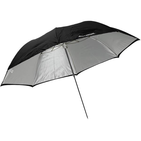 Westcott 43%22 collapsible white   black umbrella