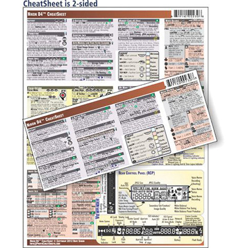 Photobert cheatsheet for nikon d4 camera