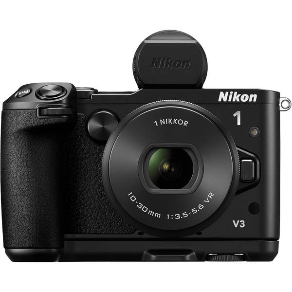 Nikon 1 v3 mirrorless camera with 10 30mm lens