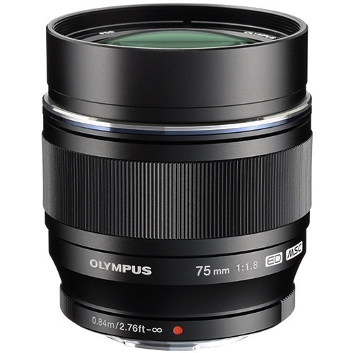 Olympus 75mm f 1.8 %28for micro 4 3%29 %28bh photo black%29