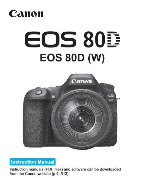 Canon 80d manual