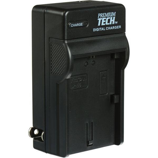 Premium tech charger for canon lp e6 battery
