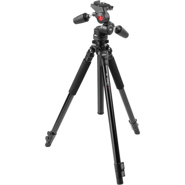 Oben ac 1351 3 section aluminum tripod with pd 117 pan tilt head   new in box
