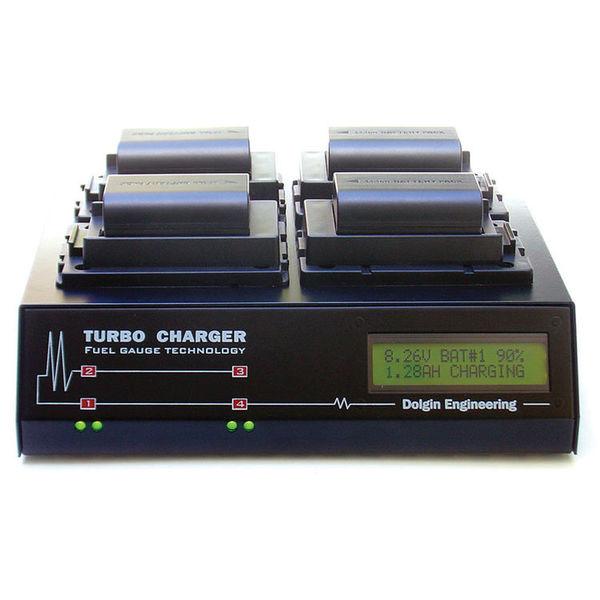 Dolgin engineering tc400 dslr c four position battery charger for canon lp e6 batteries