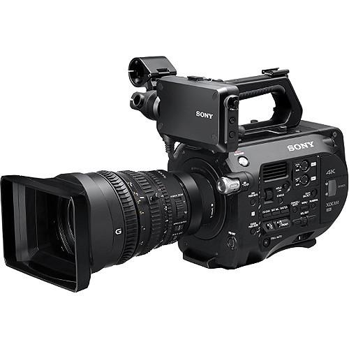 Sony pxw fs7 xdcam super 35 camcorder   fe pz 28 135mm f 4 g oss e mount lens