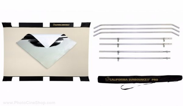 Sunbounce sun bouncer pro reflector kit with silver white screen