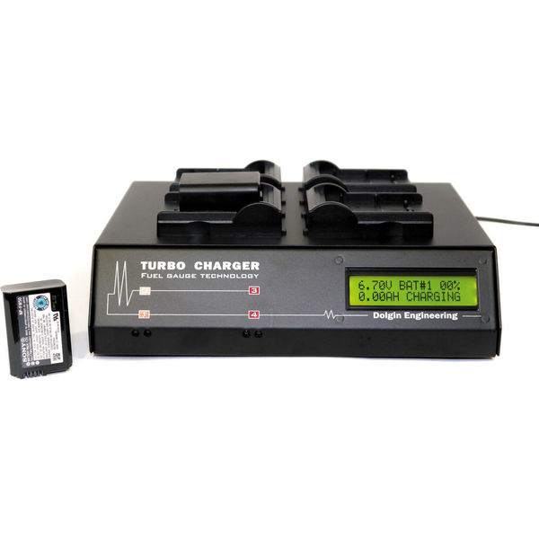 Dolgin engineering tc400 four position battery charger with tdm for sony np fw50 batteries