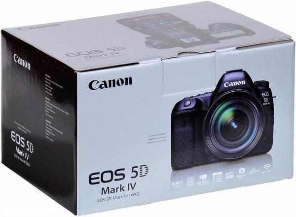 Canon eos 5d mark iv camera box