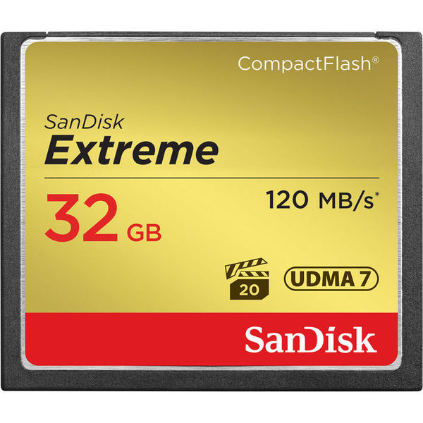 Sandisk cf 32gb extreme 120mb s memory card
