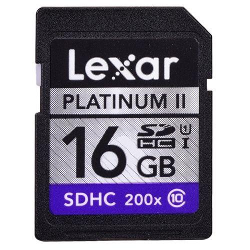 Lexar sdhc 16gb platinum ii 200x uhs 1 memory card