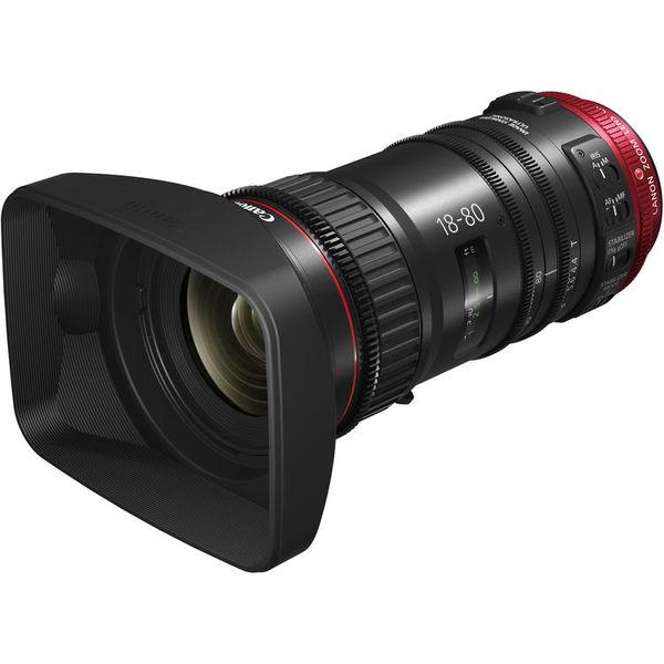Canon cn e 18 80mm t4.4 l is compact servo cine lens   ef mount