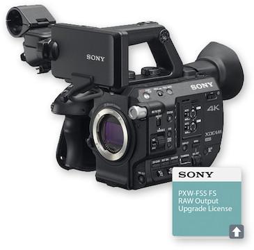 Sony pxw fs5 xdcam super 35 camera system   raw output upgrade