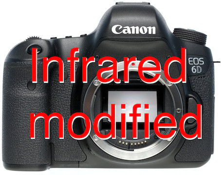 Canon eos 6d ir modified 715nm camera