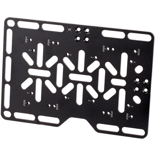 Wooden camera battery plate w clamp for director's monitor cage v2