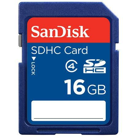Sandisk sdhc 16gb class 4 memory card