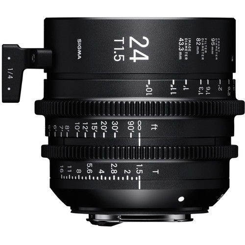 Sigma cine 24mm t1.5 high speed lens   canon ef