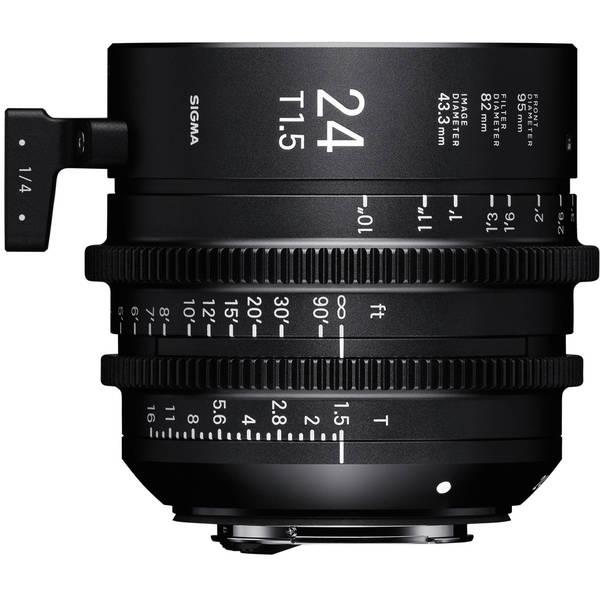 Sigma cine 24mm t1.5 high speed lens for pl mount