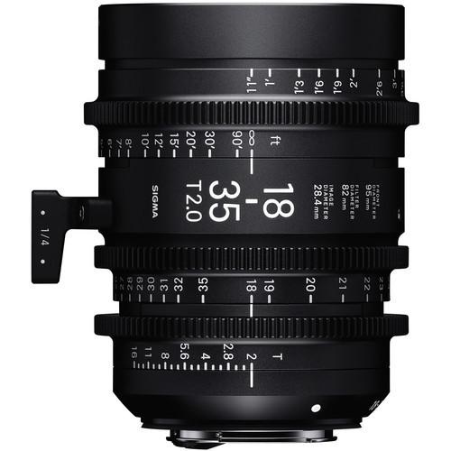 Sigma cine 18 35mm t2 high speed lens for pl mount