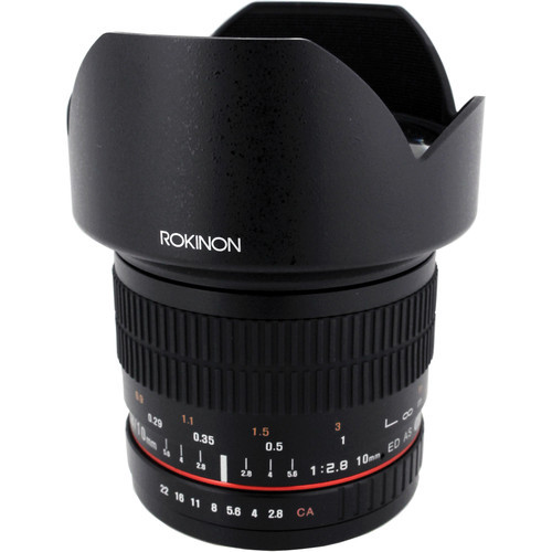 Rokinon 10mm f 2.8 for canon ef mount