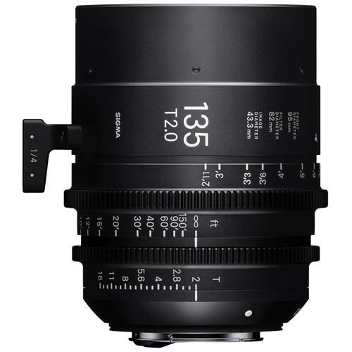 Sigma cine 135mm t2 high speed lens for pl mount