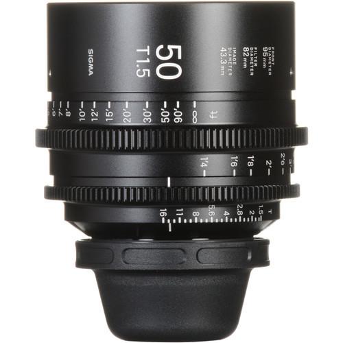 Sigma cine 50mm t1.5 high speed lens for pl mount