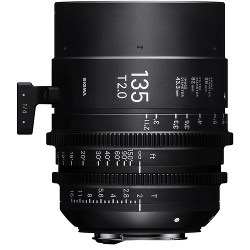 Sigma cine 135mm t2 high speed lens for ef mount