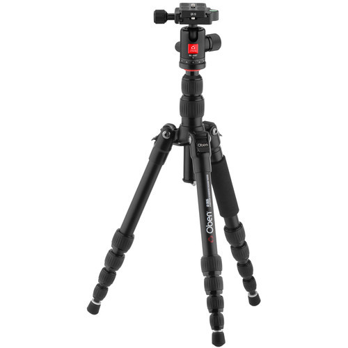 Oben at 3535 folding aluminum travel tripod with be 208t ball head