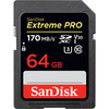 SanDisk SDXC 64GB Extreme Pro 170MB/s UHS-I U3 V30 Memory Card (Stock)