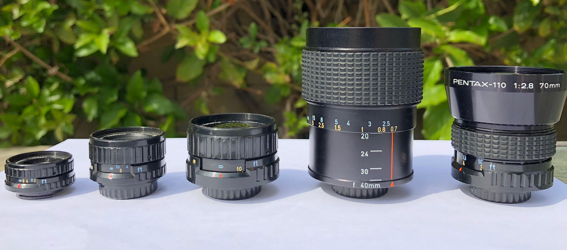Pentax-110 Subminiature Lenses for Micro4/3